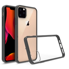 Custom moulded for the Apple iPhone 11. This black and clear Olixar ExoShield tough case provides a slim fitting stylish design and reinforced corner shock protection against damage, keeping your device looking great at all times.