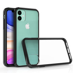 Custom moulded for the Apple iPhone 11R. This black and clear Olixar ExoShield tough case provides a slim fitting stylish design and reinforced corner shock protection against damage, keeping your device looking great at all times