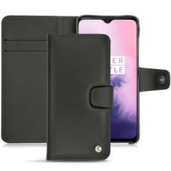 Keep your OnePlus 7 well protected from damage with this high quality, beautifully hand-crafted genuine black leather wallet case from Noreve. The perfect blend of premium style and functionality.