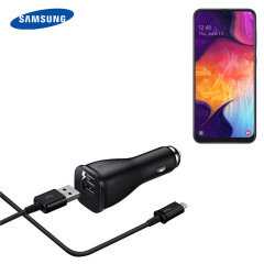 A genuine Samsung adaptive fast car charger and USB-C charging cable for your Samsung Galaxy A50. Incredibly stylish and fast, this charger is a must have, thanks to its sleek design and super fast charging rates.