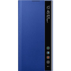 This Official Samsung Clear View Cover in Blue is the perfect way to keep your Galaxy Note 10 Plus smartphone protected whilst keeping yourself updated with your notifications thanks to the clear view front cover.
