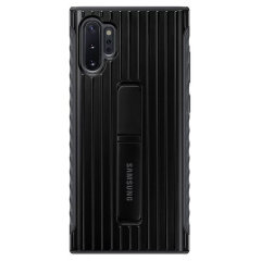 This Official Samsung Protective cover in black is the perfect accessory for your Galaxy Note 10 Plus smartphone. Incredibly lightweight and sleek this case ensures you're ready for any occasion. Fitted with a kickstand to ease the viewing ability.