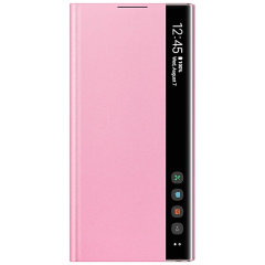 This Official Samsung Clear View Cover in pink is the perfect way to keep your Galaxy Note 10 Plus smartphone protected whilst keeping yourself updated with your notifications thanks to the clear view front cover.