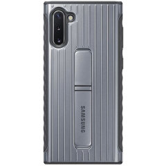 This official Samsung protective standing case in silver is designed and military-grade certified to provide premium protection for your Samsung Galaxy Note 10. The case includes an integrated kickstand at the back to provide convenience watching videos.