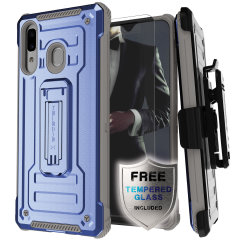 The Samsung Galaxy A20 Iron Armor 2 case in Blue/Grey from Ghostek provides your Samsung Galaxy A20 with fantastic all-around protection.Lightweight, this case is perfect for everyday use ensuring your Samsung A20 is protected at all times.