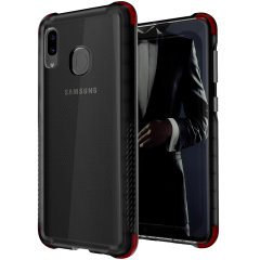 Custom moulded for the Samsung Galaxy A20, the Ghostek tough case in Smoke colour provides a slim fitting, stylish design and reinforced corner protection against shock damage, keeping your Samsung Galaxy A20 looking great at all times.
