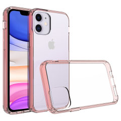 Custom moulded for the iPhone 11R. This rose gold and clear Olixar ExoShield tough case provides a slim fitting stylish design and reinforced corner shock protection against damage, keeping your device looking great at all times.