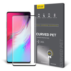 Keep your Samsung Galaxy S10 5G screen in pristine condition with this Olixar PET scratch-resistant screen protector.