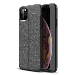 Coque iPhone 11 Pro Max Olixar Attache en cuir synthétique – Noir