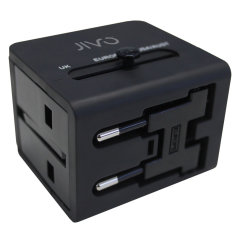 The Jivo World Travel adapter with dual USB ports is the perfect travel companion. Compatible in 150 countries all over the world with USA/UK/AU and EU plugs.