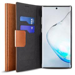Schützen Sie Ihr Samsung Galaxy Note 10 mit dieser robusten und eleganten Brieftasche von Olixar. Darüber hinaus verwandelt sich diese Tasche in einen praktischen Ständer zum Anzeigen von Medien.