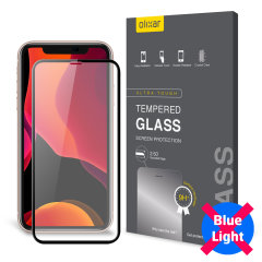 This tempered glass screen protector for the iPhone 11 from Olixar has complete edge to edge screen protection, toughness, high visibility and sensitivity all in one package, with the added bonus of limiting potentially harmful blue light rays.