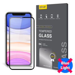 This tempered glass screen protector for the iPhone 11R from Olixar has complete edge to edge screen protection, toughness, high visibility and sensitivity all in one package, with the added bonus of limiting potentially harmful blue light rays.