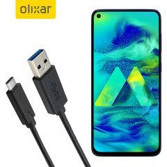 Zorg ervoor dat uw Samsung Galaxy M40 altijd volledig is opgeladen en gesynchroniseerd met deze compatibele USB 3.1 Type-C Male naar USB 3.0 mannelijke kabel. U kunt deze kabel gebruiken met een USB-wandlader of via uw desktop of laptop.