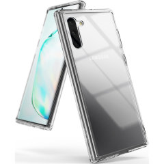 Protect the back and sides of your Samsung Galaxy Note 10 with this incredibly durable clear crystal-backed Fusion Case by Ringke.