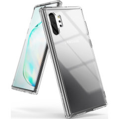 Protect the back and sides of your Samsung Galaxy Note 10 Plus with this incredibly durable clear crystal-backed Fusion Case by Ringke. Extremely lightweight and tough this case is perfect for your Note 10 Plus as it also capable with wireless charging.