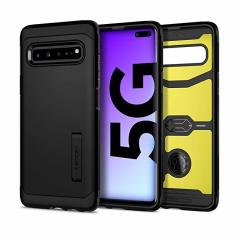 The Spigen Tough Armor in Black is the new leader in lightweight protective cases. The new Air Cushion Technology corners reduce the thickness of the case while providing optimal protection for your Samsung Galaxy S10 5G.