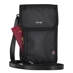 Olixar Ultra Slim RFID Blocking Passport Holder and Wallet - Black