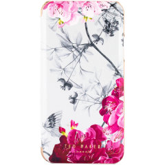 Form-fitting and bulk-free, the Babylon Nickel case for iPhone 11 Pro Max from Ted Baker sports an ethereal, otherworldly floral aesthetic while also offering superlative protection for your device from drops, scrapes and other damage.