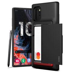 Protégez votre Samsung Galaxy Note 10 5G à l'aide de la coque VRS Design Damda Glide Shield en coloris noir mat. Fabriquée à partir d'un matériau résistant et mince, elle fournit à votre appareil une protection robuste grâce à sa structure interne souple. De plus, sa technologie brevetée à glissement vous permet de ranger facilement jusqu'à deux cartes (type carte bancaire).