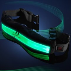 The Auraglow Super Bright Light-Up LED High Visibility Belt is equipped with Auraglow's latest LED's for high visibility at a distance of < 1000ft.