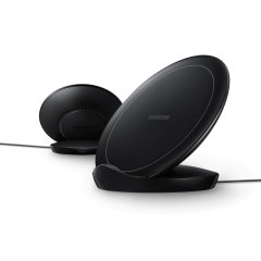Charge your wireless compatible Samsung devices  quickly with the 9W official fast wireless charging stand in black. Spend less time waiting around for your phone to charge with this official Samsung fast wireless charging stand.