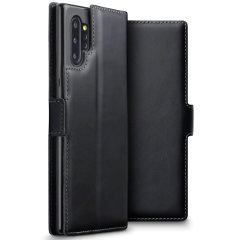 Disfrute de todos los beneficios de una cartera integrados en una funda de móvil. Gracias a Olixar podrá llevar sólo su Samsung Galaxy Note 10 Plus 5G y esta fantástica funda fabricada en piel sin necesidad de cargar con más accesorios. También se convierte en un increíble soporte.