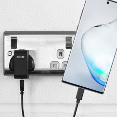 Charge your Samsung Galaxy Note 10 and any other USB device quickly and conveniently with this compatible 2.5A high power USB-C UK charging kit. Featuring a UK wall adapter and a 1m USB-C cable.