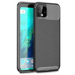 Flexible rugged casing with a premium matte finish non-slip carbon fibre and brushed metal design, the Olixar case in black keeps your Google Pixel 4 XL protected.
