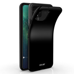 Custom moulded for the Google Pixel 4, this solid black Olixar FlexiShield case provides slim fitting and durable protection against damage..