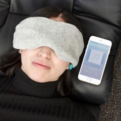 Rest better on the go or at home with this genius Manniska Wireless Music Sleep Mask. The mask's thick lining blocks out light around you and you can connect up and listen to your relaxing music via Bluetooth ensuring minimal noise and light disturbance.