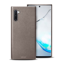 Crafted from premium genuine leather, this exquisite grey case from Olixar for the Samsung Galaxy Note 10 provides stunning style and prestigious protection for your phone in a slim and sleek package.