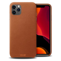 Crafted from premium genuine leather, this exquisite brown case from Olixar for the iPhone 11  Pro provides stunning style and prestigious protection for your phone in a slim and sleek package.