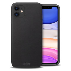 Crafted from premium genuine leather, this exquisite black case from Olixar for the iPhone 11 provides stunning style and prestigious protection for your phone in a slim and sleek package.