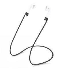 Olixar Soft Silicone Anti-Loss AirPods EarPhone Strap - Black