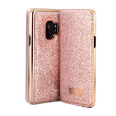 Form-fitting and bulk-free, the Glitsie case for your Samsung Galaxy S9 from Ted Baker sports an eye-catching yet sophisticated glitter appearance and feel while also offering superlative protection for your device from drops, scrapes and other damage.