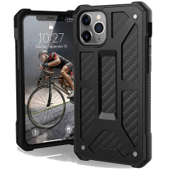 The Urban Armour Gear Monarch in carbon fibre for the iPhone 11 Pro is quite possibly the king of protective cases. With 5 layers of premium protection and the finest materials, your iPhone 11 Pro is safe, secure and in some style too.