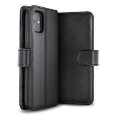 Alle voordelen van een portemonnee-hoesje maar veel gestroomlijnder. De lederen hoes van Olixar is de perfecte partner voor de iPhone 11-eigenaar die veel onderweg is. Bovendien verandert deze hoes in een handige standaard om media te bekijken.