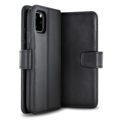 Olixar Genuine Leather iPhone 11 Pro Wallet Case - Black