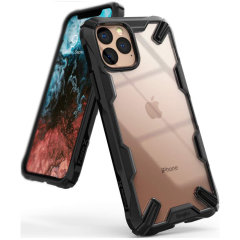 Keep your Apple iPhone 11 Pro Max protected from bumps and drops with the Rearth Ringke Fusion X tough case in Black. Featuring a 2-part, Polycarbonate design, this case lives up to military drop-test standards.