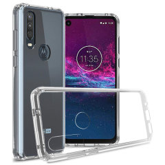 Custom moulded for the Motorola One Action, this crystal clear Olixar ExoShield tough case provides a slim fitting, stylish design and reinforced corner protection against shock damage, keeping your device looking great at all times.