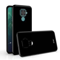 Custom moulded for the Huawei Nova 5i Pro this solid black FlexiShield case by Olixar provides slim fitting and durable protection against damage.