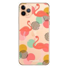 Coque iPhone 11 Pro LoveCases Flamant rose – Transparent