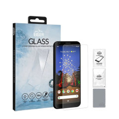 Introducing the ultimate in screen protection for the Google Pixel 4 XL the 2.5D Glass by Eiger is made from premium real glass with rounded edging and anti-shatter film.