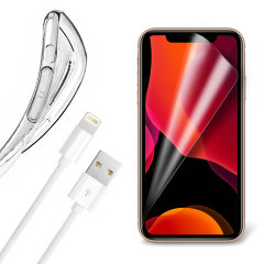 Guard your beautiful iPhone 11 Pro from damage with the Olixar Essential Pack. Featuring an ultra-thin case and two screen protectors, this pack provides the ultimate in lightweight protection, with the addition of a 1 metre Lightning cable.