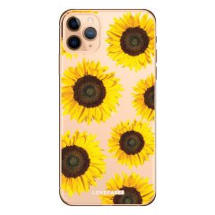 Coque iPhone 11 Pro LoveCases Tournesol – Transparent / jaune
