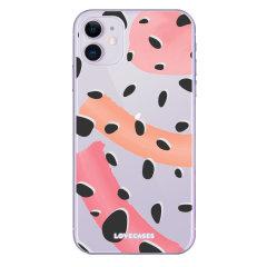 Coque iPhone 11 LoveCases à pois abstraits – Transparent