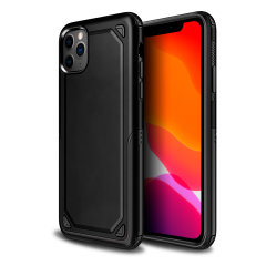 Protect your iPhone 11 Pro Max from bumps, scrapes and drops with the Fortis case in black from Olixar. Featuring a protective hybrid design with an inner TPU section and an outer impact-resistant exoskeleton.