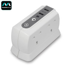 Masterplug Dual USB W/ 4 Socket Surge Protected 2m Extension - UK Plug