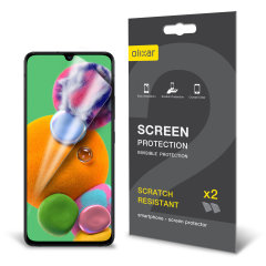 Keep your Samsung Galaxy A90 5G screen in pristine condition with this Olixar scratch-resistant screen protector 2-in-1 pack.